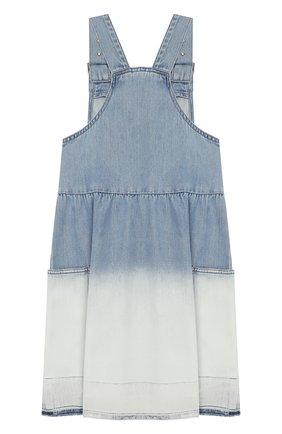 Детское джинсовый сарафан STELLA MCCARTNEY голубого цвета, арт. 588706/S0K57 | Фото 2