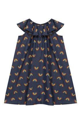 Детское хлопковое платье STELLA MCCARTNEY синего цвета, арт. 589367/S0K82   Фото 2