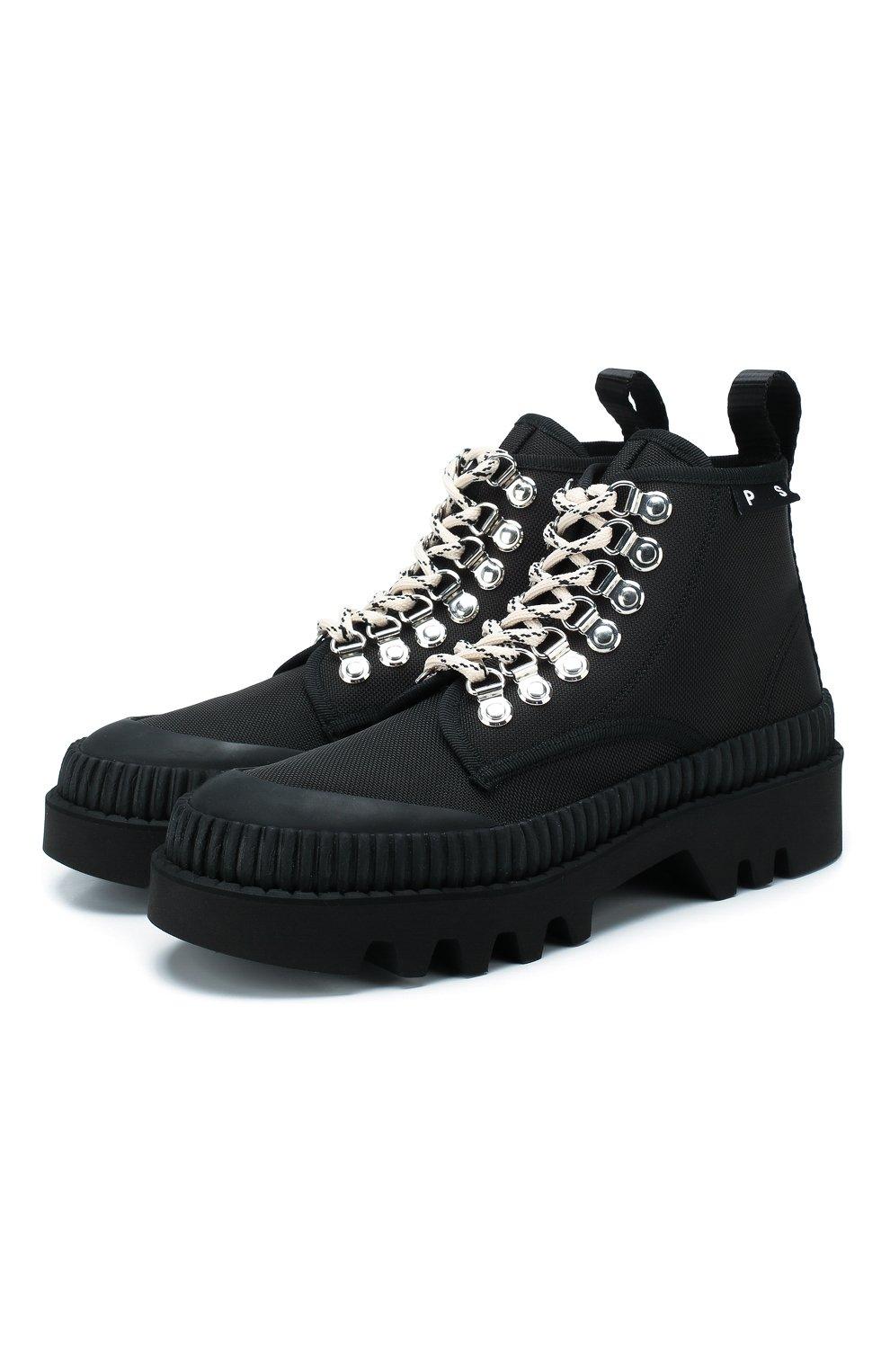 Женские текстильные ботинки lug PROENZA SCHOULER черного цвета, арт. PS32051A/09223 | Фото 1