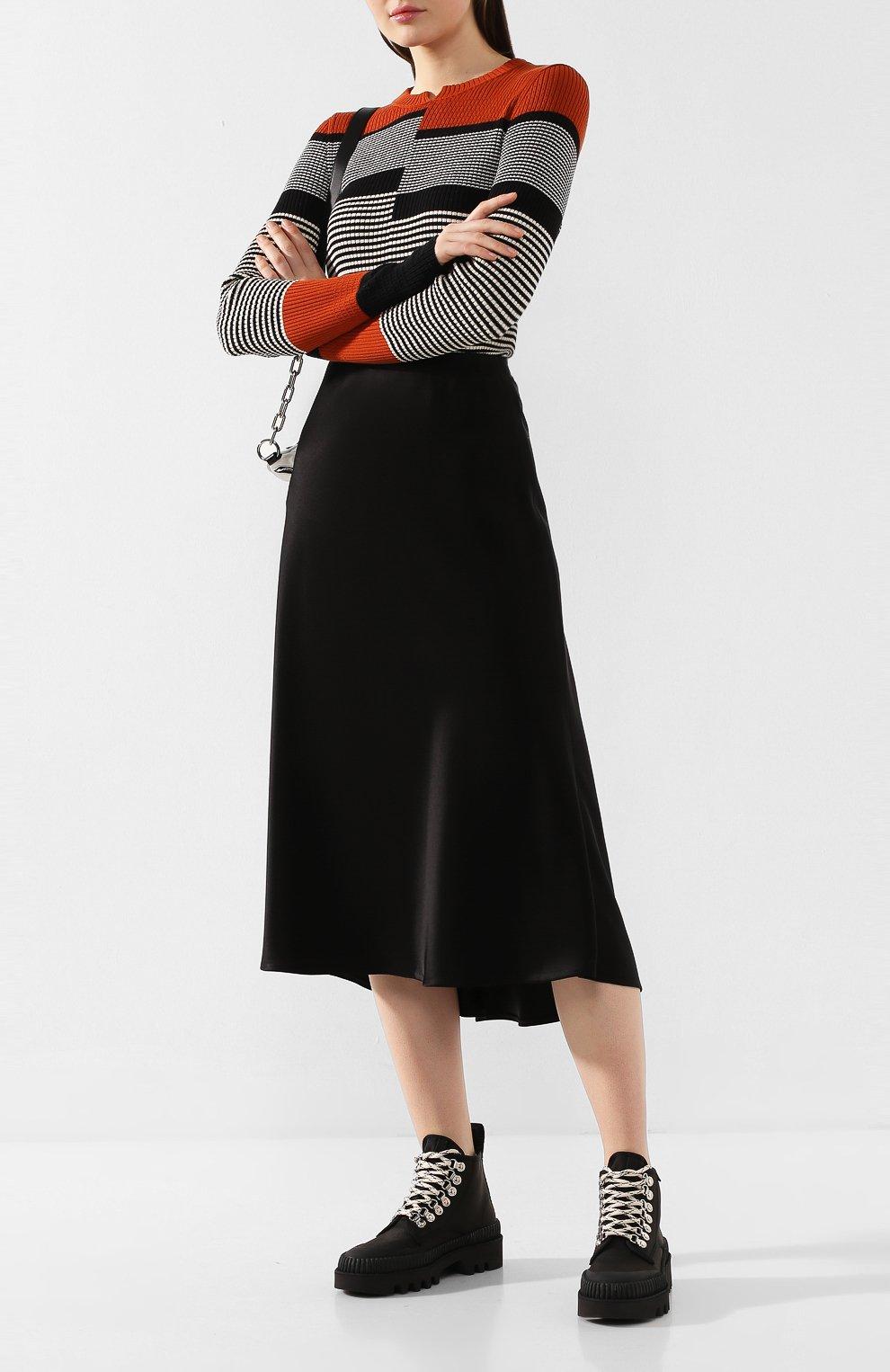 Женские текстильные ботинки lug PROENZA SCHOULER черного цвета, арт. PS32051A/09223 | Фото 2