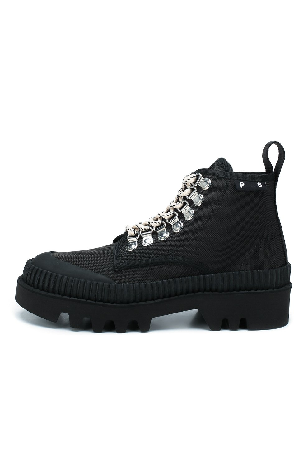 Женские текстильные ботинки lug PROENZA SCHOULER черного цвета, арт. PS32051A/09223 | Фото 3