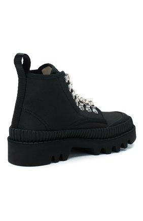 Женские текстильные ботинки lug PROENZA SCHOULER черного цвета, арт. PS32051A/09223 | Фото 4