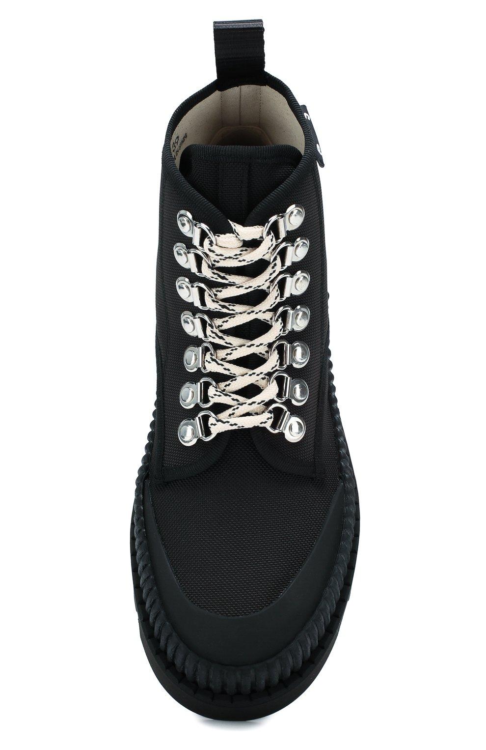 Женские текстильные ботинки lug PROENZA SCHOULER черного цвета, арт. PS32051A/09223 | Фото 5