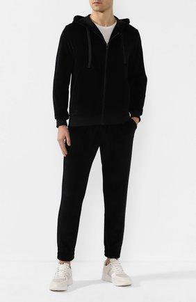 Мужской хлопковый спортивный костюм ERMENEGILDO ZEGNA черного цвета, арт. N6HB10940 | Фото 1