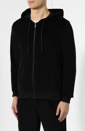 Мужской хлопковый спортивный костюм ERMENEGILDO ZEGNA черного цвета, арт. N6HB10940 | Фото 2