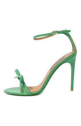Женские кожаные босоножки RALPH LAUREN зеленого цвета, арт. 800791824 | Фото 4