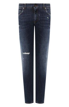 Мужские джинсы DOLCE & GABBANA темно-синего цвета, арт. GY07CD/G8CA2   Фото 1