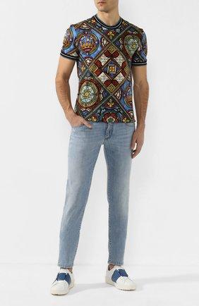 Мужские джинсы DOLCE & GABBANA голубого цвета, арт. GY07LD/G8BZ1   Фото 2
