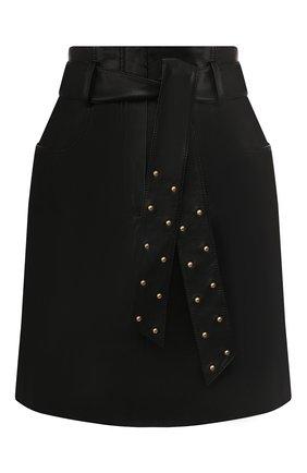 Женская кожаная юбка ESCADA SPORT черного цвета, арт. 5031760 | Фото 1