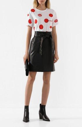Женская кожаная юбка ESCADA SPORT черного цвета, арт. 5031760 | Фото 2