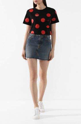 Женская хлопковая футболка ESCADA SPORT черного цвета, арт. 5032016 | Фото 2