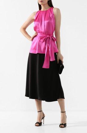 Женский топ с поясом ESCADA розового цвета, арт. 5032514 | Фото 2