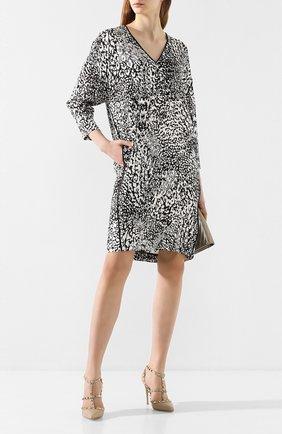 Женское платье из вискозы ESCADA леопардового цвета, арт. 5032588 | Фото 2