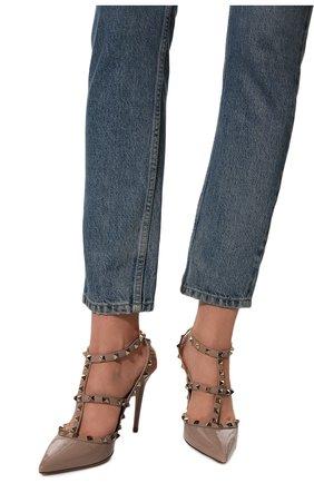 Женские кожаные туфли valentino garavani rockstud VALENTINO бежевого цвета, арт. TW2S0393/VNW | Фото 3