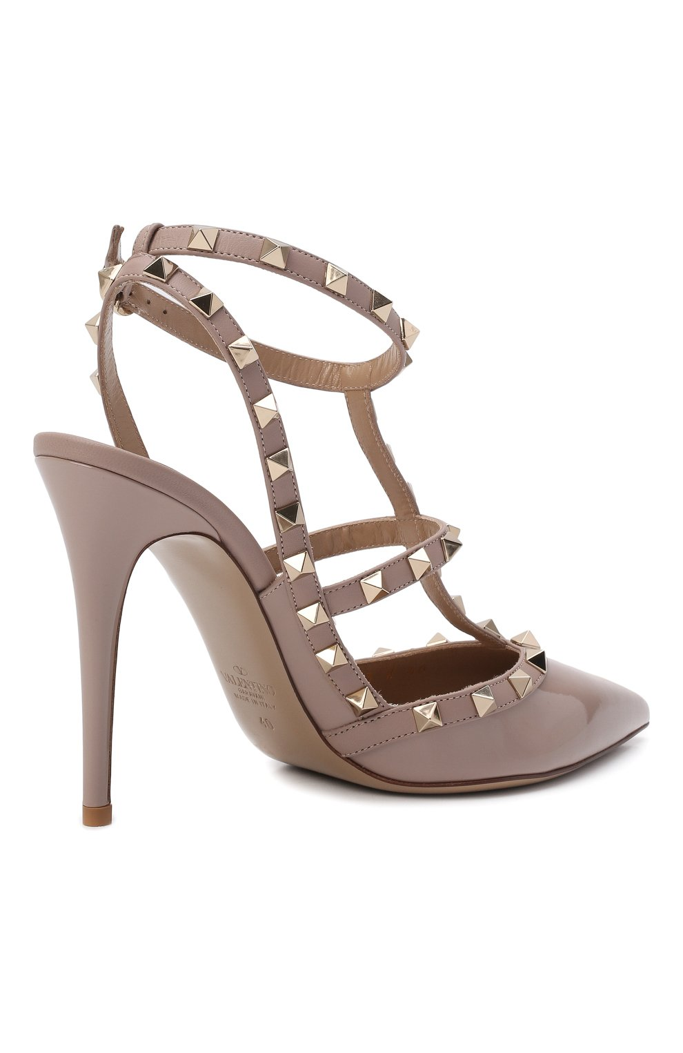 Женские кожаные туфли valentino garavani rockstud VALENTINO бежевого цвета, арт. TW2S0393/VNW | Фото 5