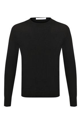 Мужской хлопковый джемпер CRUCIANI черного цвета, арт. CU558.G02 | Фото 1