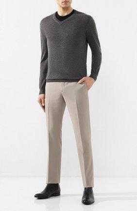 Мужской пуловер из смеси кашемира и шелка CRUCIANI темно-серого цвета, арт. CU487B.V03F6V | Фото 2