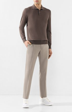 Мужское поло из смеси кашемира и шелка CRUCIANI коричневого цвета, арт. CU487B.CF1F6V | Фото 2