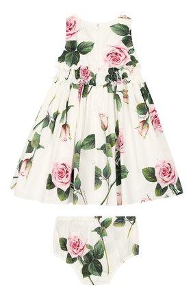 Женский комплект из платья и шорт DOLCE & GABBANA белого цвета, арт. L21DK3/HS5GG | Фото 2