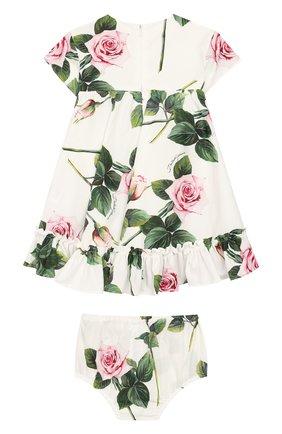 Женский комплект из платья и шорт DOLCE & GABBANA белого цвета, арт. L22DG3/HS5GG | Фото 2