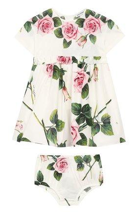 Женский комплект из платья и шорт DOLCE & GABBANA белого цвета, арт. L2JDZ1/G7VXW | Фото 1