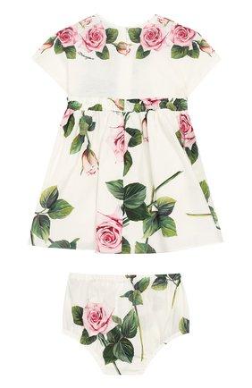 Женский комплект из платья и шорт DOLCE & GABBANA белого цвета, арт. L2JDZ1/G7VXW | Фото 2