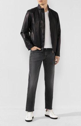 Мужские джинсы CANALI серого цвета, арт. 91700/PD00003 | Фото 2