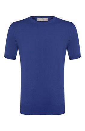 Мужской хлопковый джемпер CANALI синего цвета, арт. C0719/MK00145   Фото 1