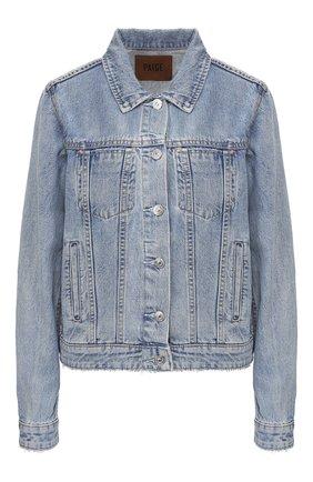 Женская джинсовая куртка PAIGE голубого цвета, арт. 6014673-7434 | Фото 1