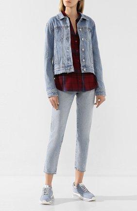 Женская джинсовая куртка PAIGE голубого цвета, арт. 6014673-7434 | Фото 2