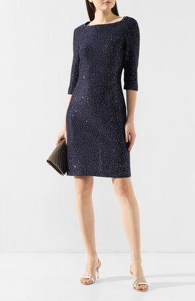 Женское платье ST. JOHN темно-синего цвета, арт. K12Y082 | Фото 2
