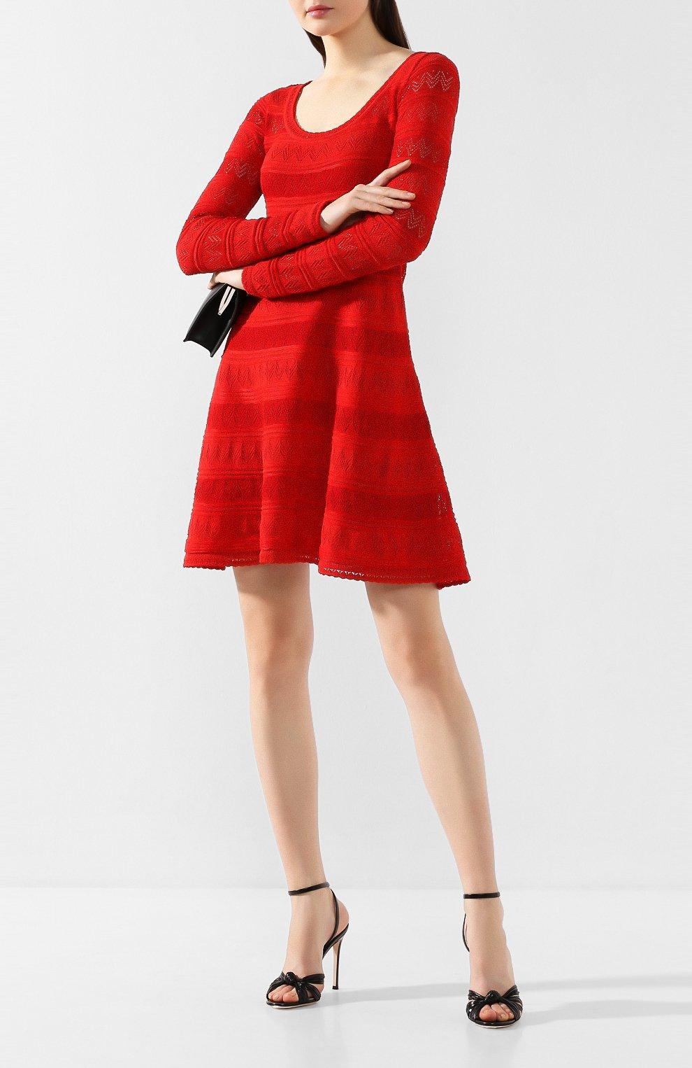 Женские кожаные босоножки GIANVITO ROSSI черного цвета, арт. G31648.15RIC.ETTNER0 | Фото 2