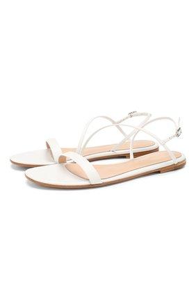 Женские кожаные сандалии GIANVITO ROSSI белого цвета, арт. G31202.05CU0.VITBIAN | Фото 1