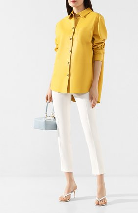 Женские кожаные мюли calypso GIANVITO ROSSI белого цвета, арт. G11260.70RIC.VITBIAN | Фото 2