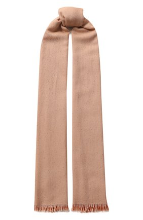 Мужские шарф из смеси кашемира и шелка LORO PIANA оранжевого цвета, арт. FAL0058 | Фото 1