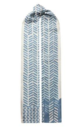 Мужские шелковый шарф LORO PIANA синего цвета, арт. FAI9816 | Фото 1