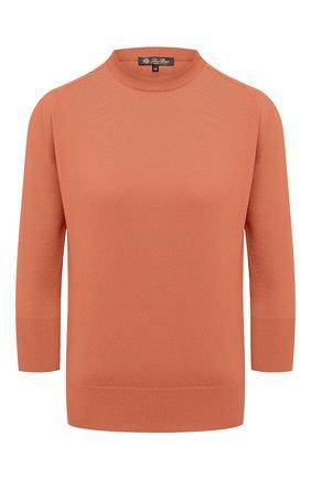 Женская кашемировый пуловер LORO PIANA бежевого цвета, арт. FAI4920 | Фото 1