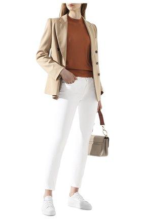 Женская кашемировый пуловер LORO PIANA бежевого цвета, арт. FAI4920 | Фото 2