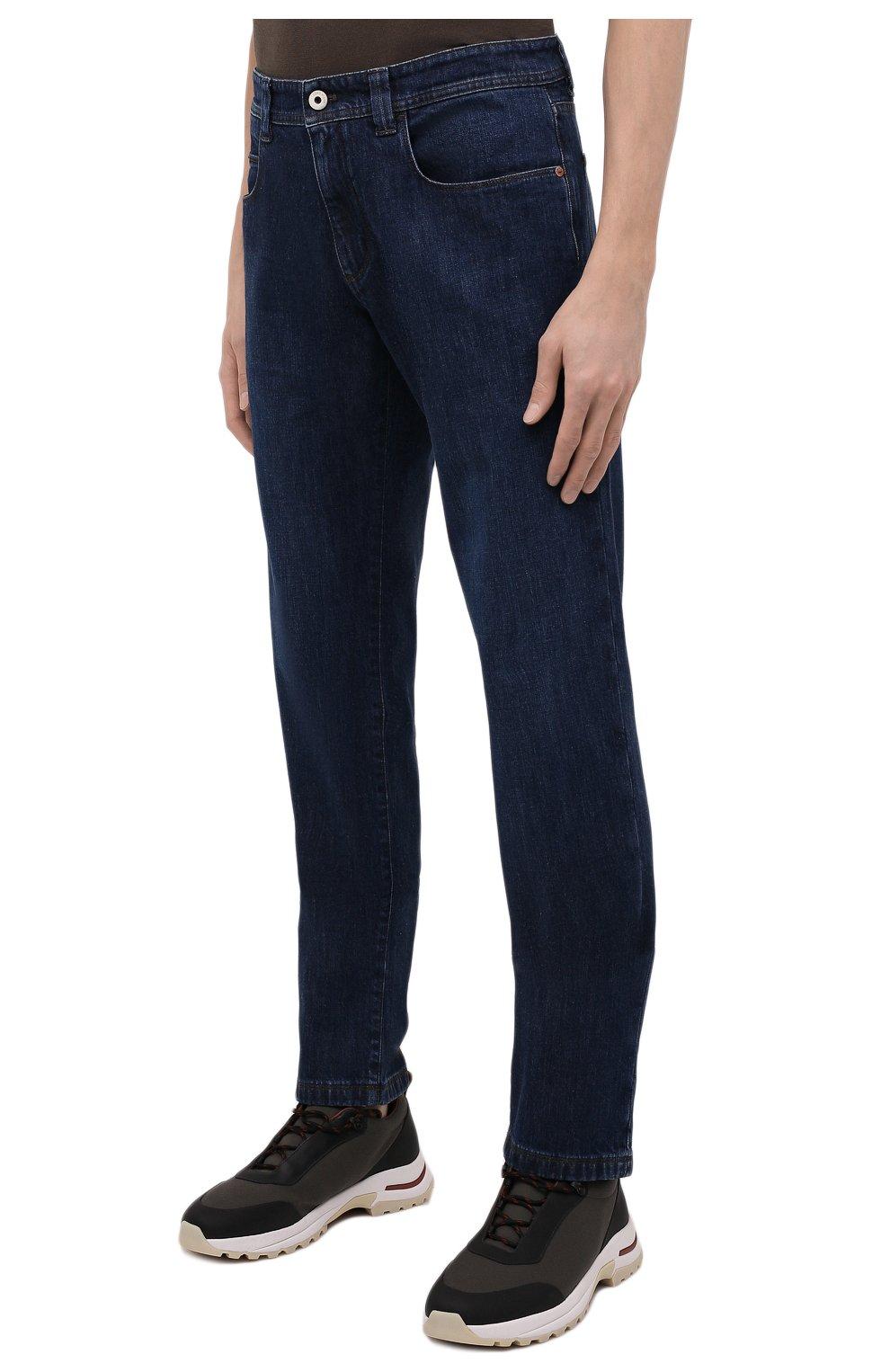 Мужские джинсы LORO PIANA темно-синего цвета, арт. FAF8318 | Фото 3