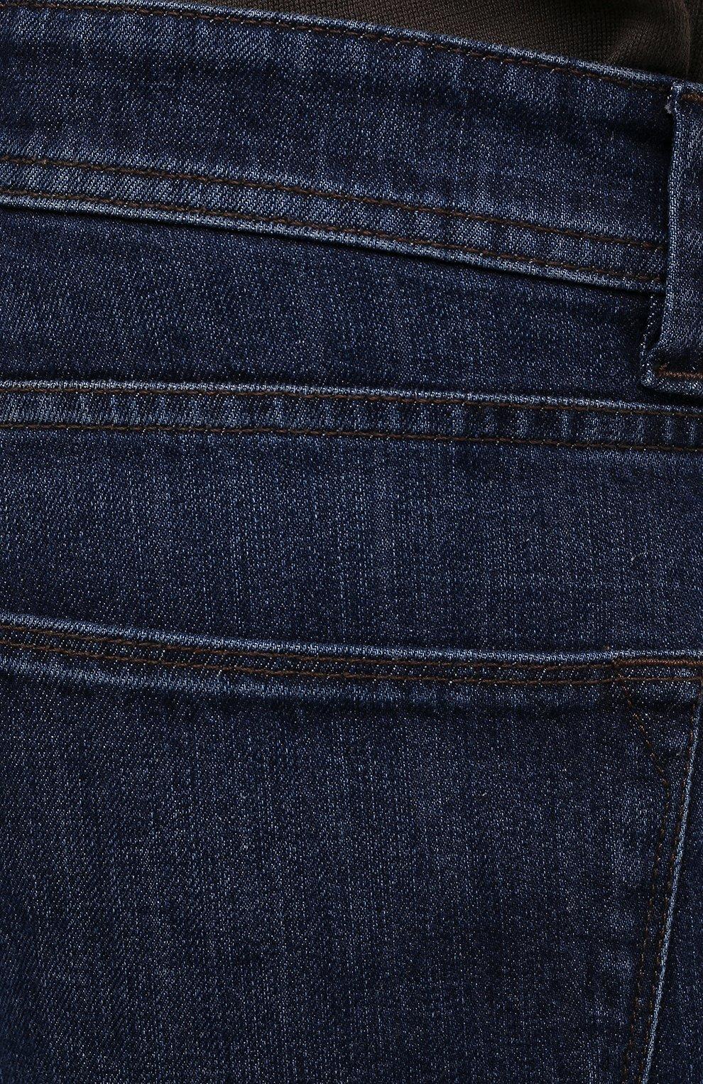 Мужские джинсы LORO PIANA темно-синего цвета, арт. FAF8318 | Фото 5