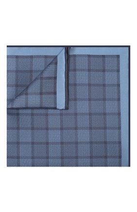 Мужской шелковый платок BRIONI голубого цвета, арт. 071000/P943Q | Фото 1