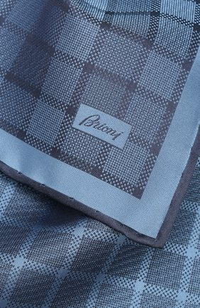 Мужской шелковый платок BRIONI голубого цвета, арт. 071000/P943Q | Фото 2
