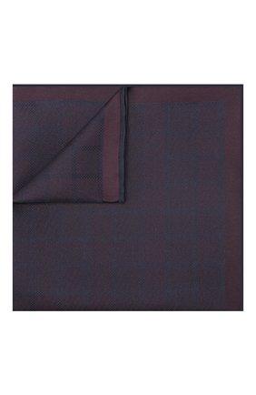 Мужской шелковый платок BRIONI фиолетового цвета, арт. 071000/P943Q | Фото 1