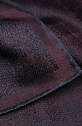 Мужской шелковый платок BRIONI фиолетового цвета, арт. 071000/P943Q | Фото 2
