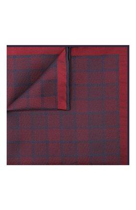 Мужской шелковый платок BRIONI красного цвета, арт. 071000/P943Q | Фото 1