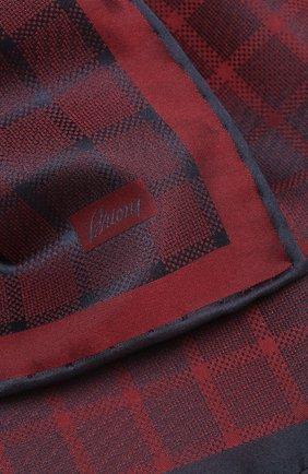 Мужской шелковый платок BRIONI красного цвета, арт. 071000/P943Q | Фото 2