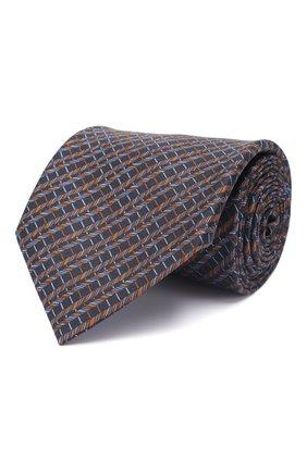 Мужской комплект из галстука и платка BRIONI темно-синего цвета, арт. 08A900/P942I   Фото 1