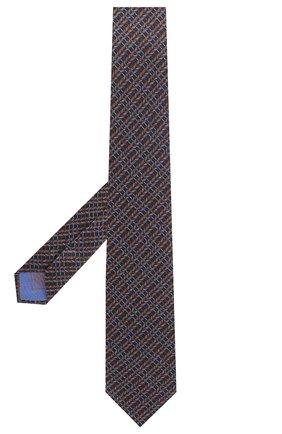 Мужской комплект из галстука и платка BRIONI темно-синего цвета, арт. 08A900/P942I   Фото 2