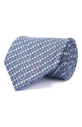 Мужской комплект из галстука и платка BRIONI голубого цвета, арт. 08A900/P942I   Фото 1