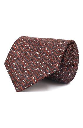Мужской комплект из галстука и платка BRIONI бордового цвета, арт. 08A900/P942Y   Фото 1